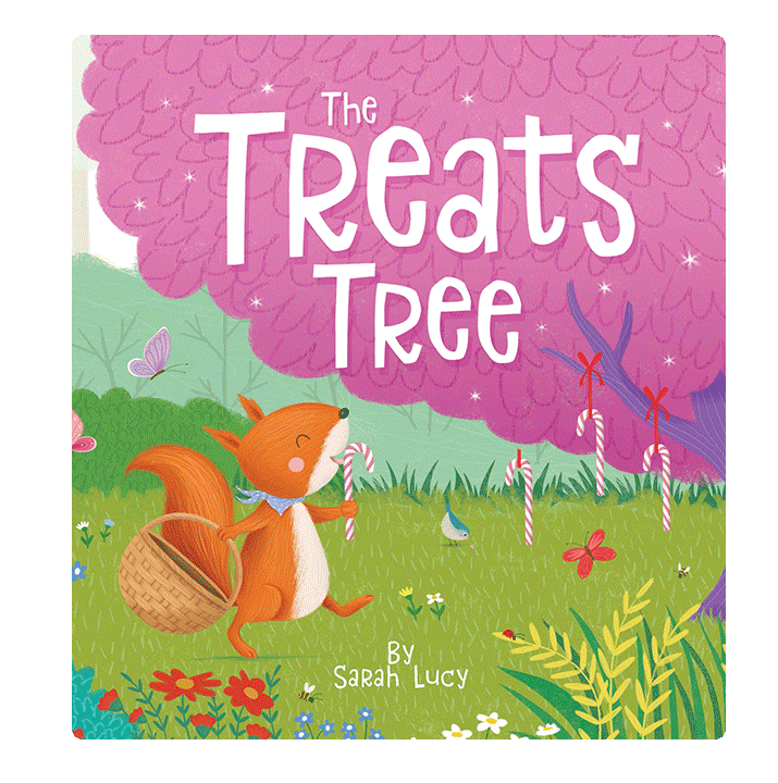 Little Hippo The Treats Tree Padded Board Children's Book family sharing squirrels