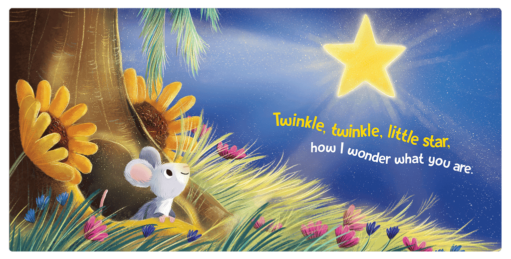 Twinkle Twinkle Little Star Little Hippo Books Children's Chunky Padded Board Book Bedtime Story classic nursery rhyme
