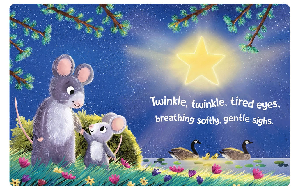 Twinkle Twinkle Little Star Little Hippo Books Children's Padded Board Book bedtime classic family rabbit