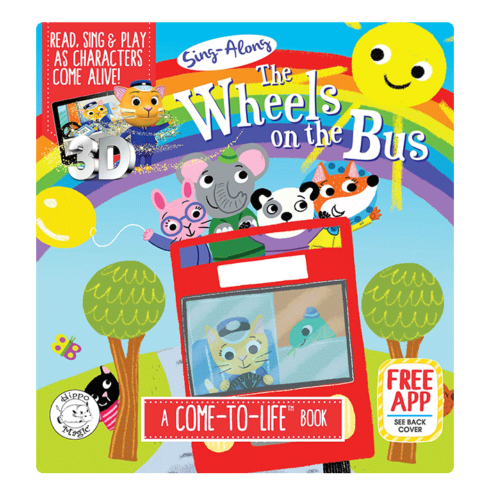 little hippo books classic bedtime padded board book children school wheels on the bus augmented reality