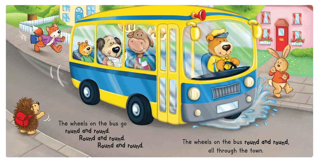 Little Hippo Books Wheels on the Bus Classic Singalong School Bedtime Baby Boy Girl Kid Children's Book