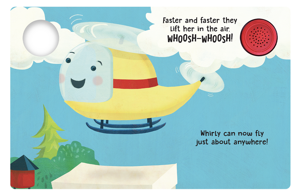 Whirly The Helicopter  - Little Hippo Books Sound Book - Children's Board Book - Interactive Fun Child's Book - Book for Boys or Girls