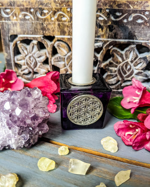 Flower of Life Chime Candle Holder (+ candle)