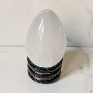 Natural Selenite Crystal Egg