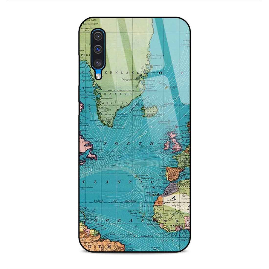 Samsung A50 Designer Glass Back cover nx 70