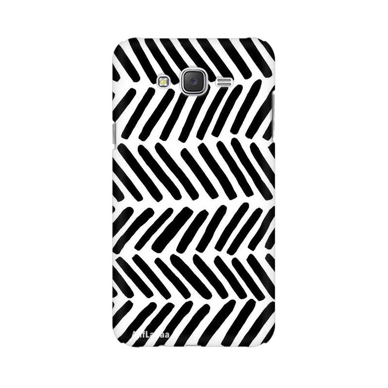 Black & white Samsung J7 Sublime Case Nx315