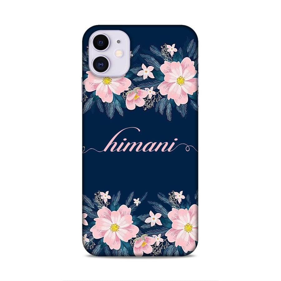 Customised Floral Design Name Case cx06