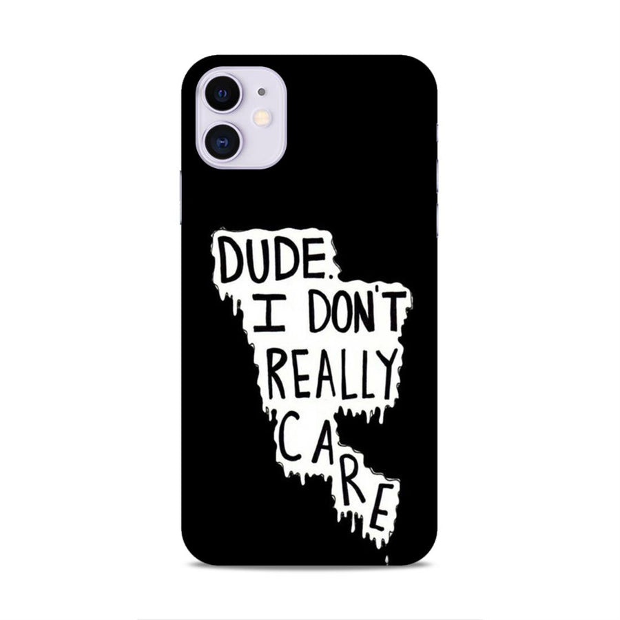 Typography iPhone 11 Mobile Back Cover nx504
