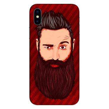 Phone Cases,Prinnted Phone Covers,Apple Phone Cases,iPhone Xs Max,Beard
