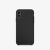 Black color premium iphone x / xs  liquid silicon case