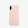 Light pink premium iphone x / xs  liquid silicon case