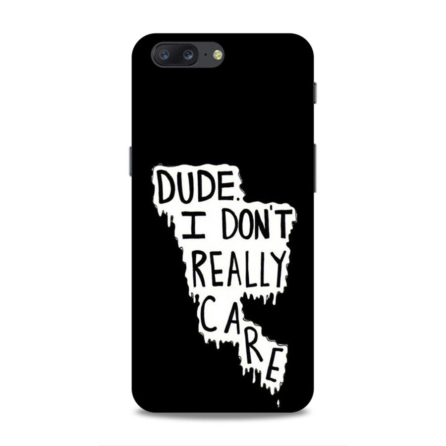 Typography OnePlus 5 Mobile Back Cover nx504