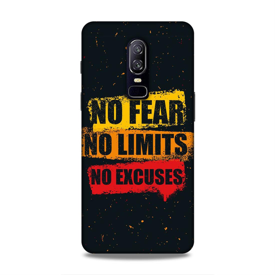 Typography OnePlus 6 Mobile Back Cover nx527
