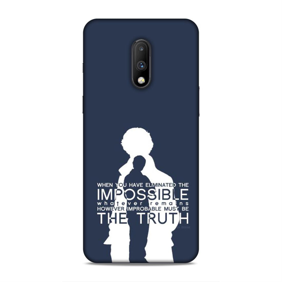 Sherlock Holmes Oneplus 7 Mobile Back Cover nx474