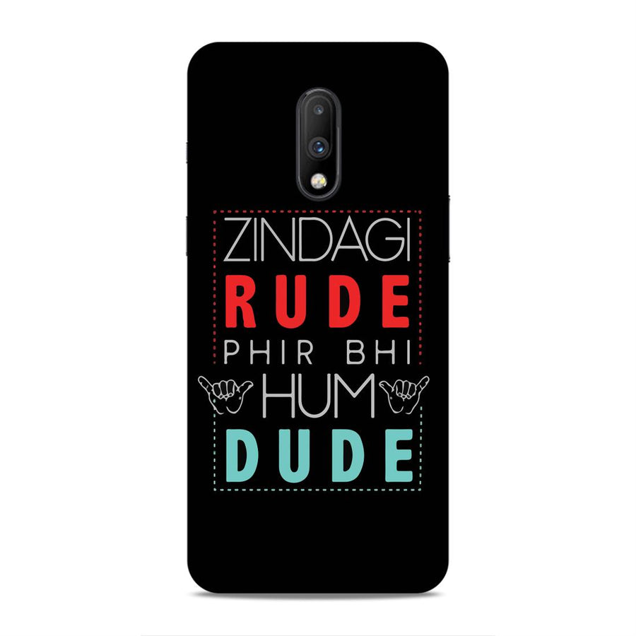 Typography Oneplus 7 Mobile Back Cover nx495