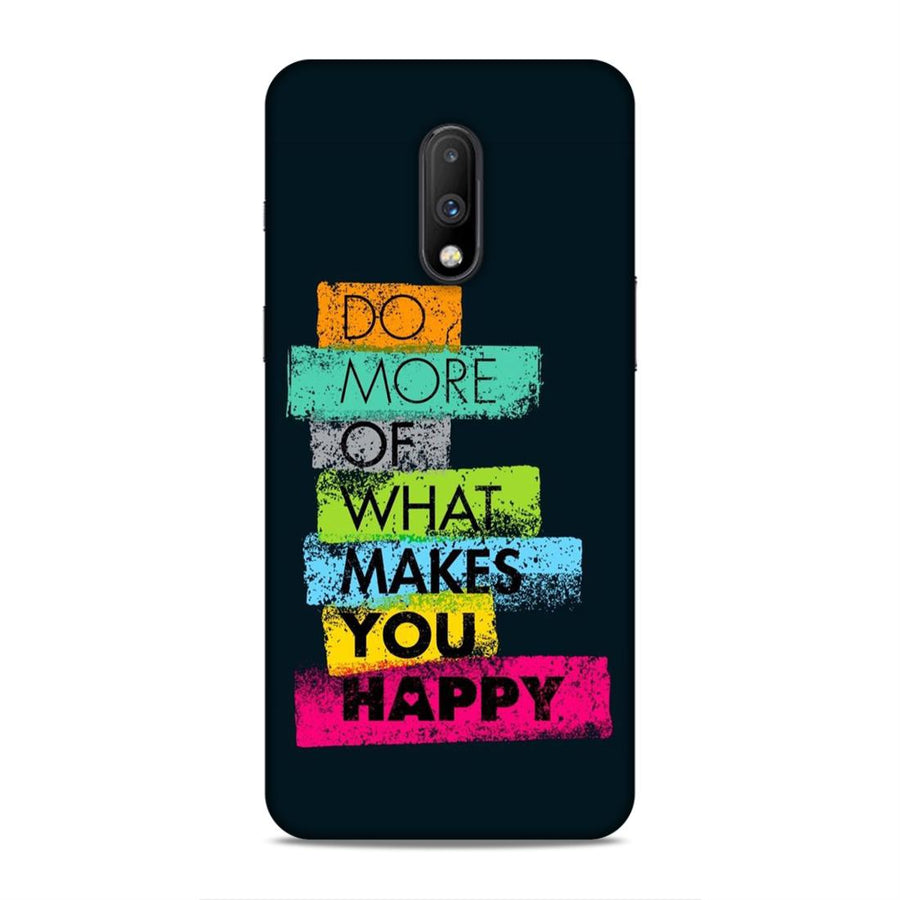 Typography Oneplus 7 Mobile Back Cover nx502
