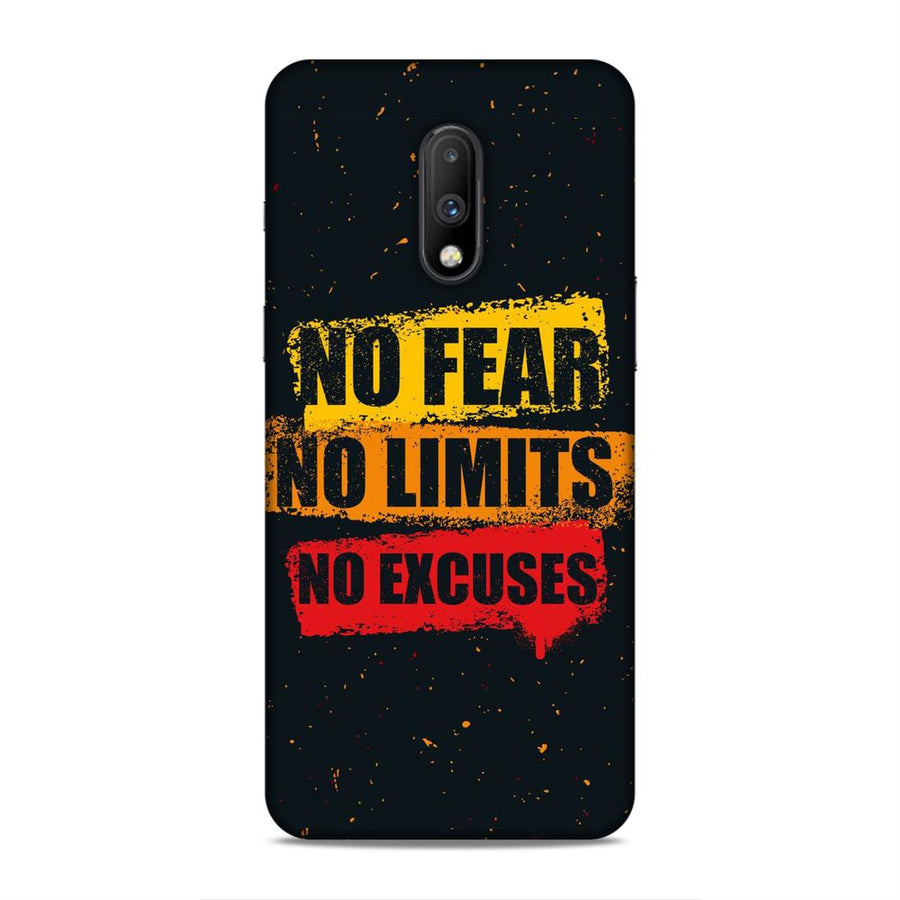 Typography Oneplus 7 Mobile Back Cover nx527