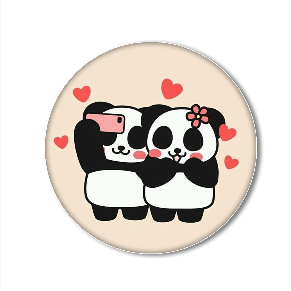 Panda Love Printed Pop Snap Grip