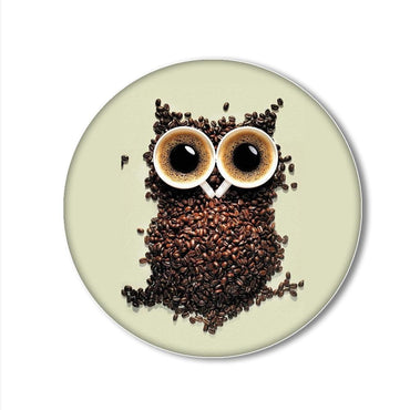 Coffee Owl Printed Pop Snap Grip