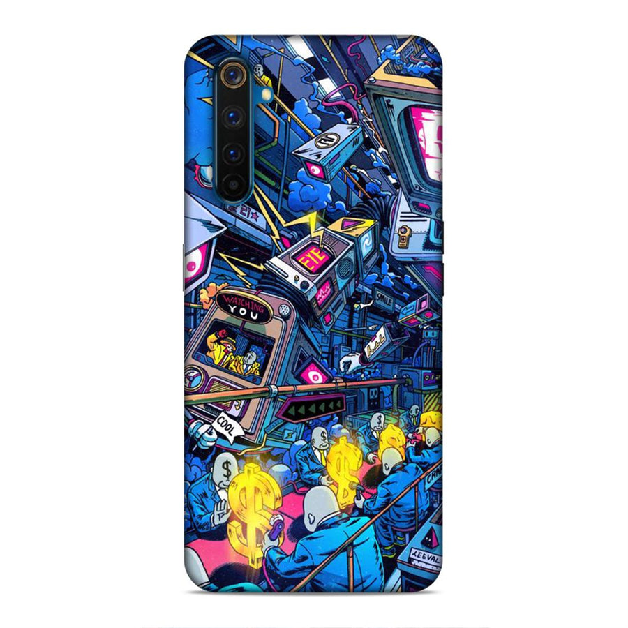 Abstract Real Me 6 Mobile Back Cover cx797