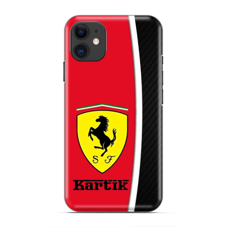 Ferrari Custom Designer Name Case