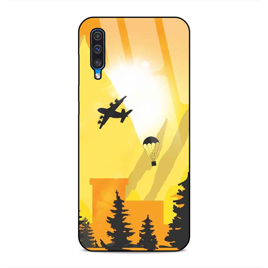 Samsung A50 Designer Glass Back cover nx 33