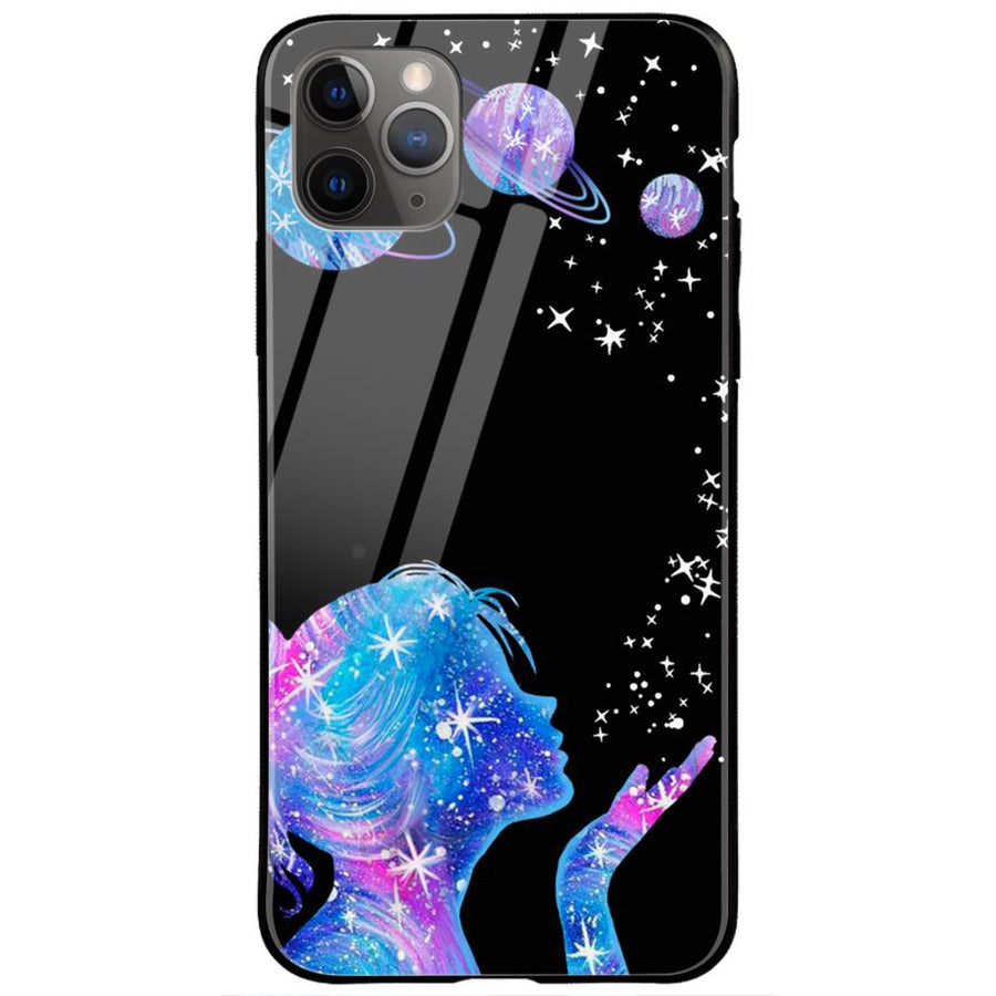 Phone Cases,Apple Phone Cases,iPhone 11 Pro Max Glass Case,Space