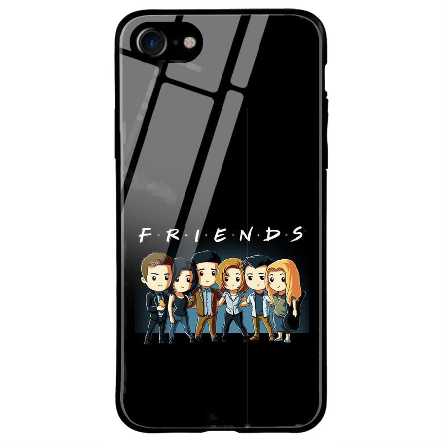 Phone Cases,Apple Phone Cases,iphone 7/8 Glass Cases,Friends