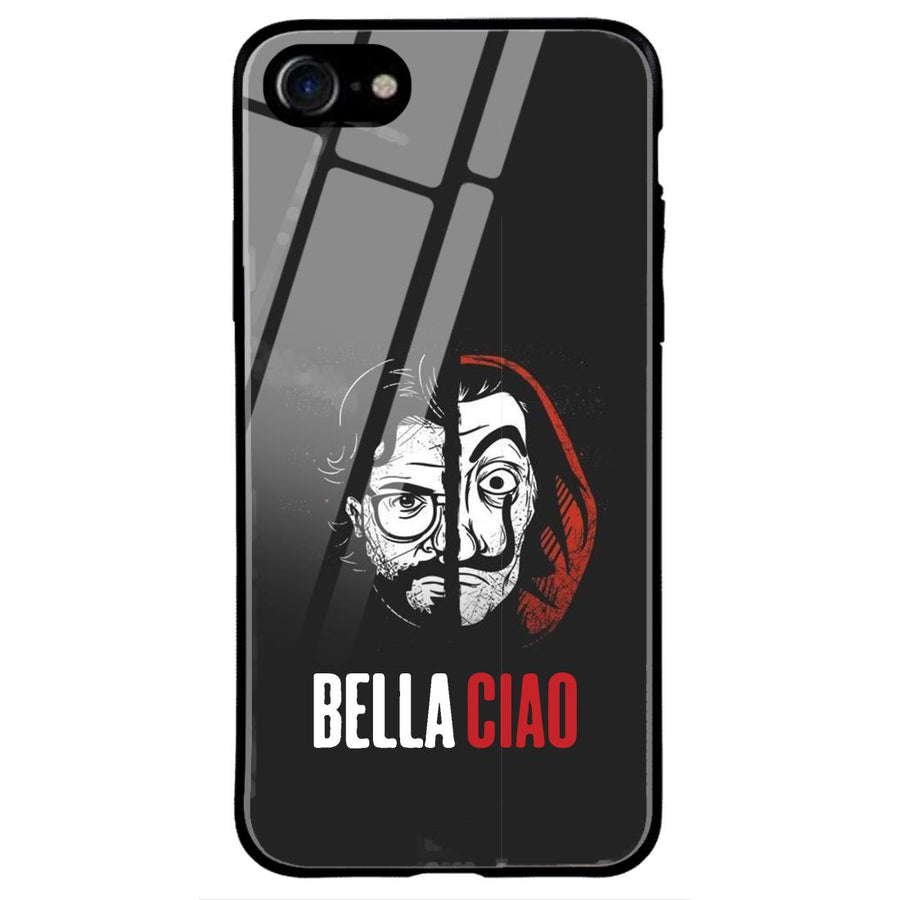 Phone Cases,Apple Phone Cases,iphone 7/8 Glass Cases,Money Heist