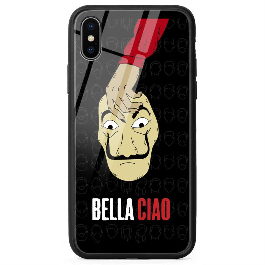 Glass Phone Cases,Apple Glass Phone Cases,iPhone X Glass Case,Money Heist