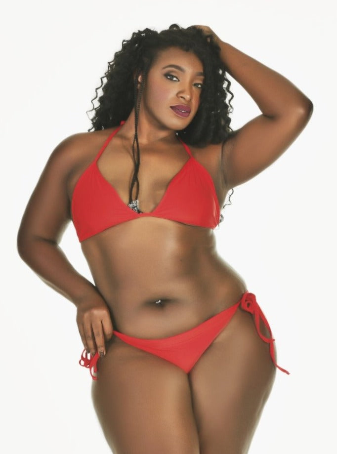 Basic String Bikini Red