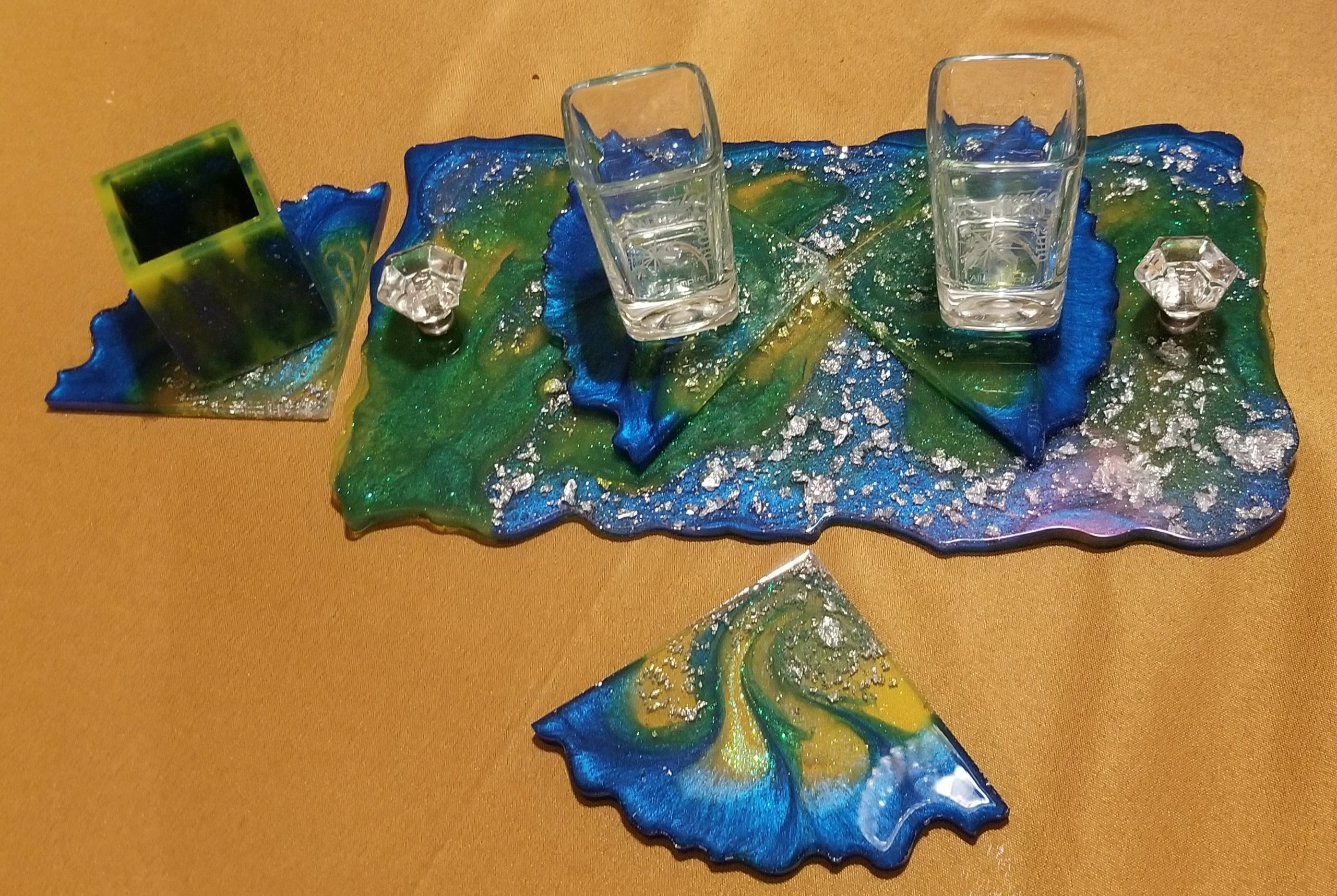 Ocean and Sunshine Tray Set