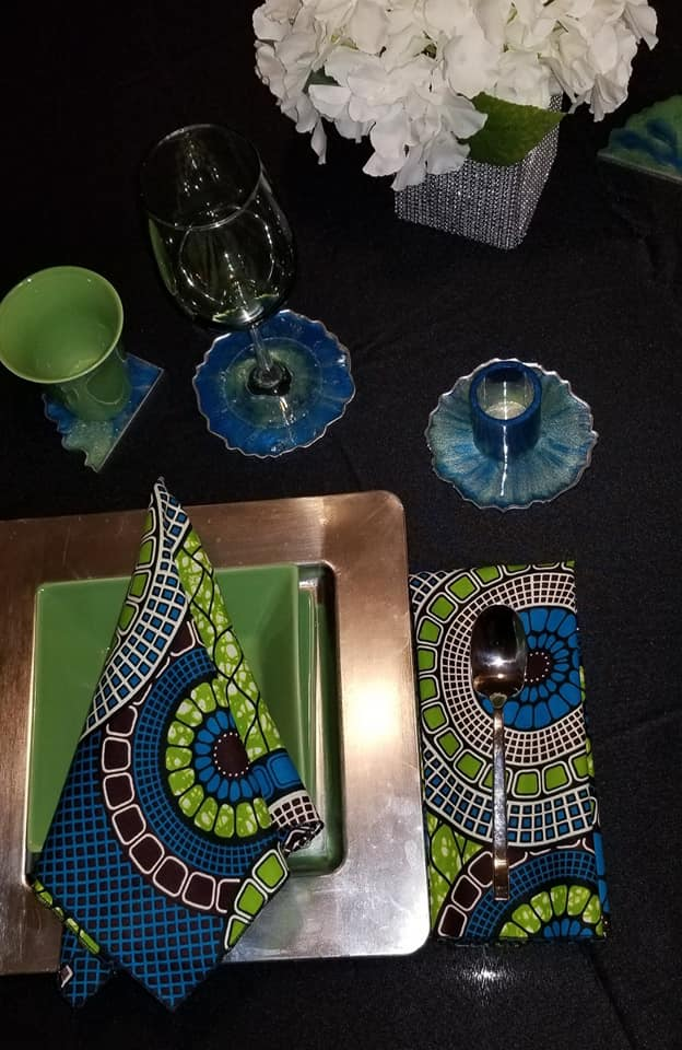 Blue Ocean Coaster Set