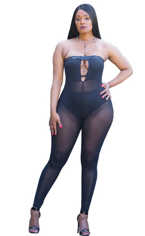 Licious Black Sheer Jumpsuit