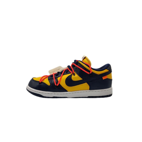 Nike Dunk Low Off-White University Gold Midnight Navy (Worn)