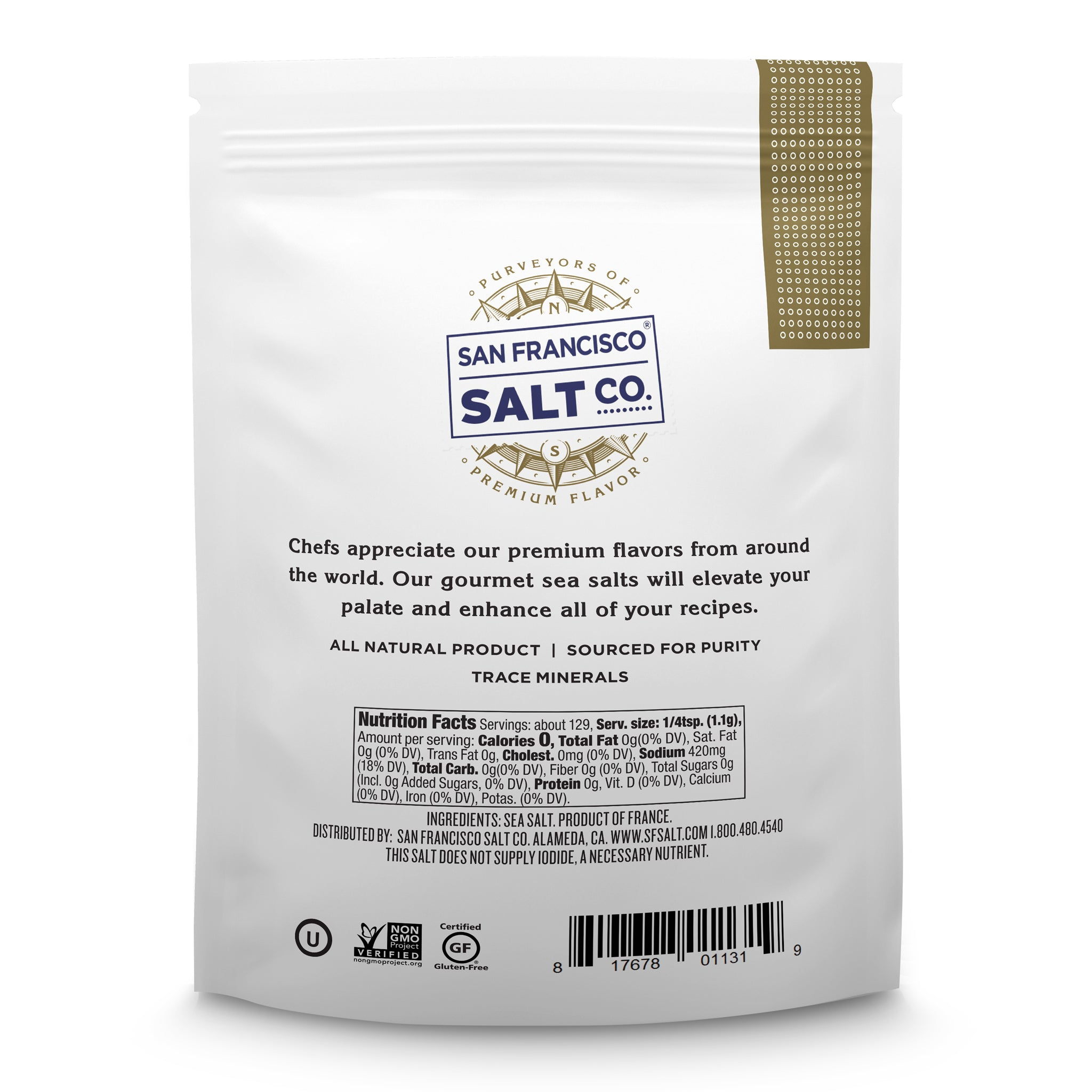 French Grey Sea Salt 5oz Bag - Fine Grain - San Francisco Salt Company
