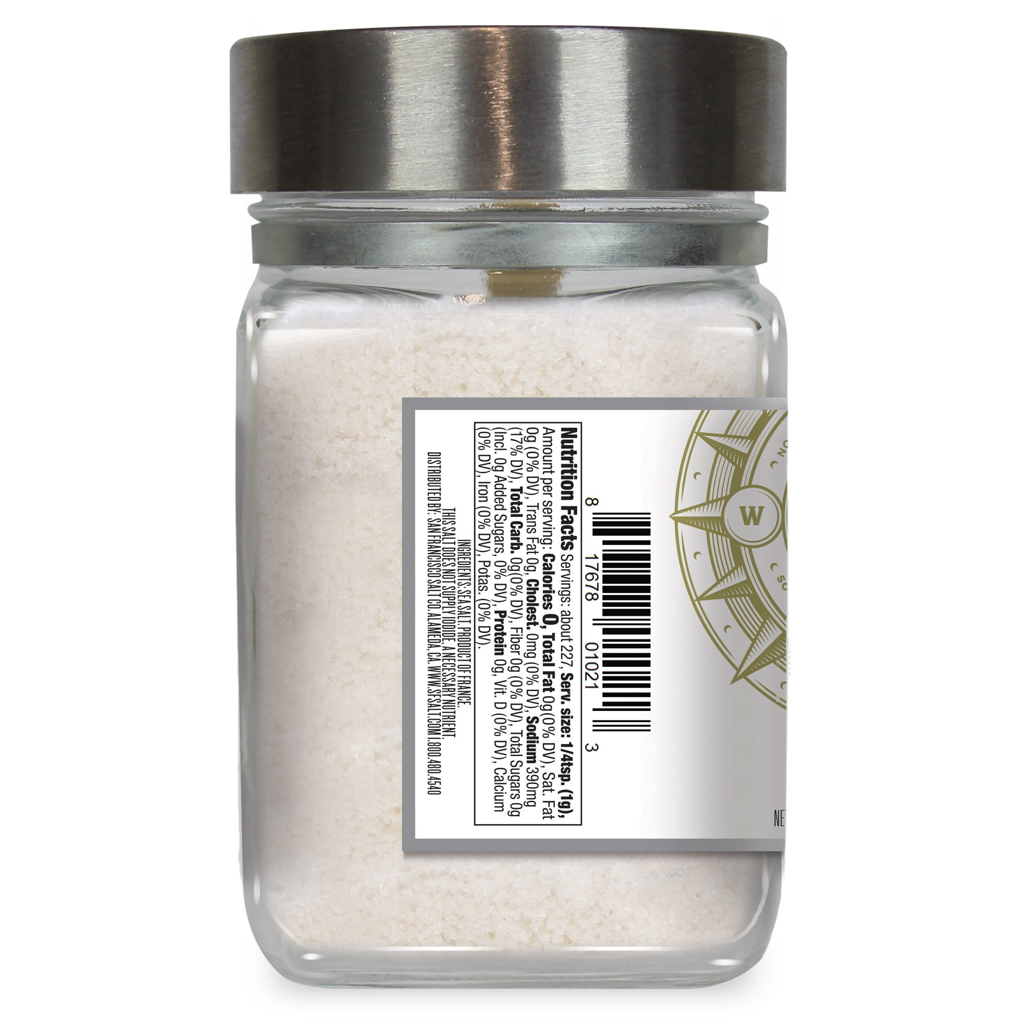 Fleur de Sel 8 oz. Chef's Jar - San Francisco Salt Company