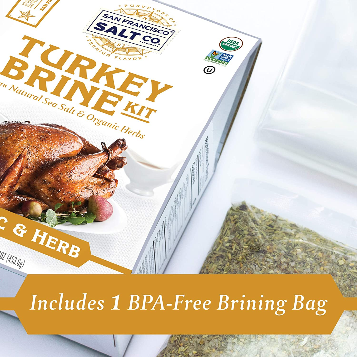 Organic Garlic & Herb Turkey Brine Kit - San Francisco Salt Company