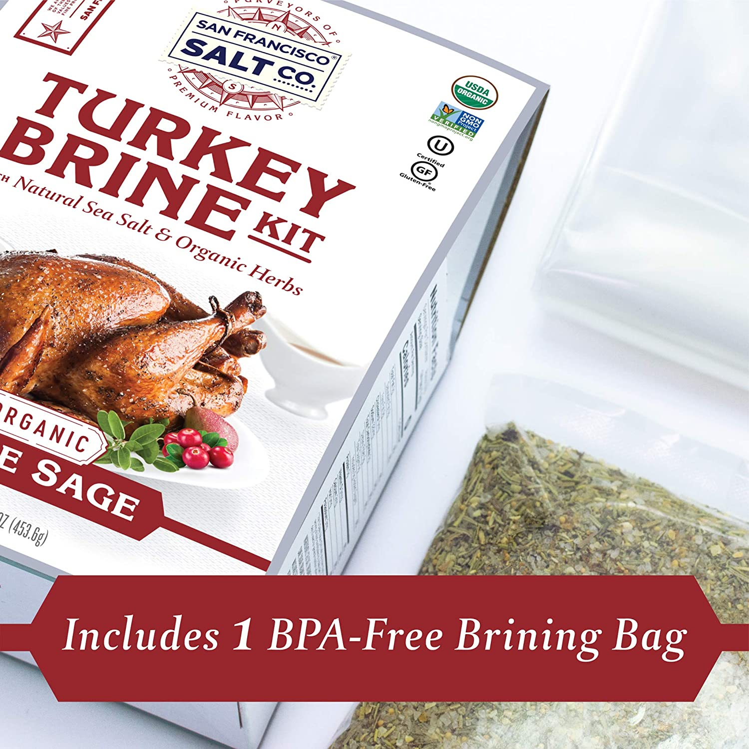 Organic Turkey Brining Kit - Apple Sage - San Francisco Salt Company