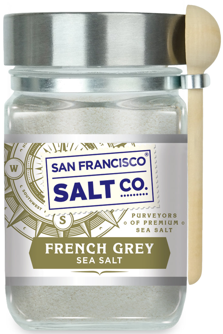 French Grey Sea Salt 8 oz. Chef's Jar - San Francisco Salt Company