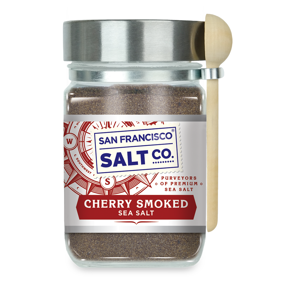 Smoked Cherrywood Salt 8 oz. Chef's Jar - San Francisco Salt Company