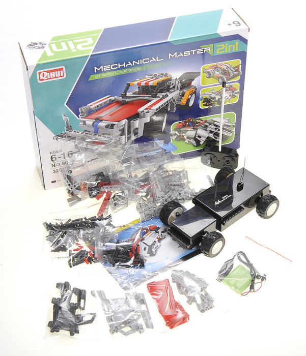 Mechanical Master 2 in 1 DIY Remote Control Vehicle: Robot Racer