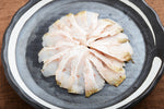 Sashimi of thinly sliced Black throat seaperch