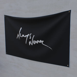 Always Never Logo Flag