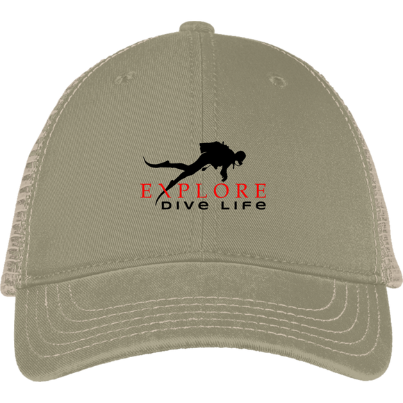 EXPLORE DIVE LIFE MESH BACK SCUBA DIVING BALL CAP