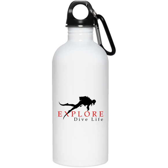 EXPLORE DIVE LIFE STAINLESS STEEL WATER BOTTLE