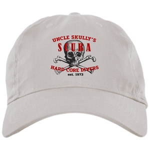 UNCLE SKULLY'S HARDCORE DIVERS SCUBA DIVING DAD BALL CAP