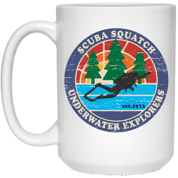 SCUBA SQUATCH UNDERWATER HUNTERS SCUBA DIVING COFFEE MUG