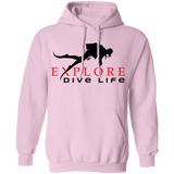 Explore Dive Life Scuba Diving Pullover Hoodie Sweat Shirt