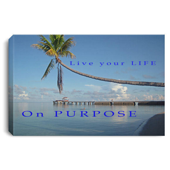 LIVE YOUR LIFE BEACH CANVAS WALL ART